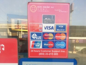 credit cards accepted Cambodia