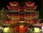 Buddha Tooth Relic Temple and Museum Singapore Chinatown at Night