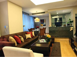 preview Ascott Sathorn Bangkok Residence hotel Silom 2 bedroom deluxe living and dining areas